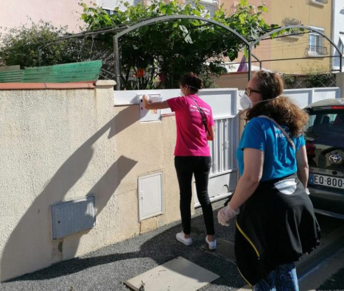 distribution de masques à Saint-Cyprien